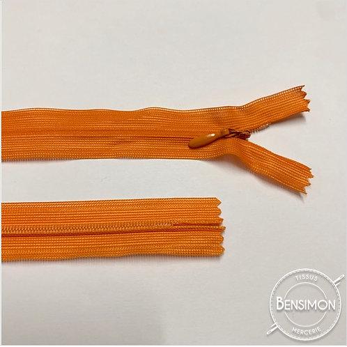 Fermeture invisible 4mm non séparable - Orange