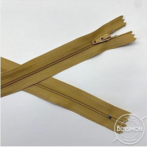 Fermetures nylon 3mm non séparables - Beige 20 à 60cm