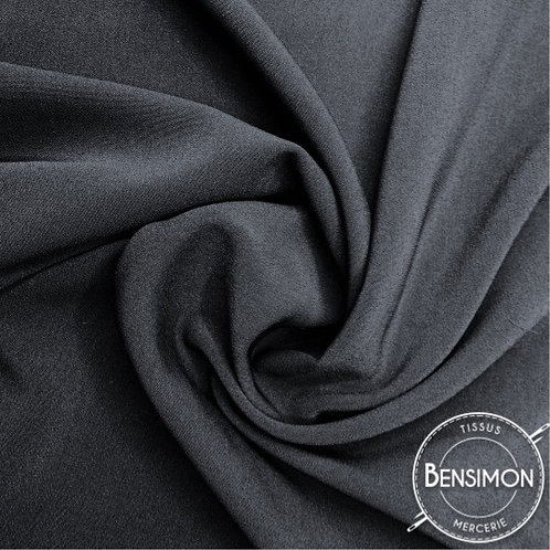 Tissu Crêpe - Noir X 50cm