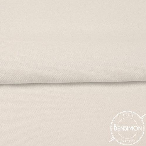 Tissu natté Gabardine Coton - Écru X 50cm