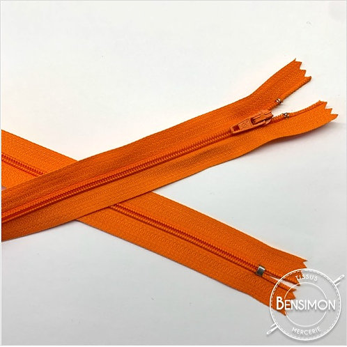 Fermetures nylon 3mm non séparables - Orange 20 à 60cm