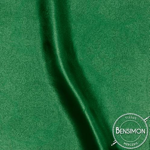 Tissu satin uni léger - Vert bouteille X 50cm