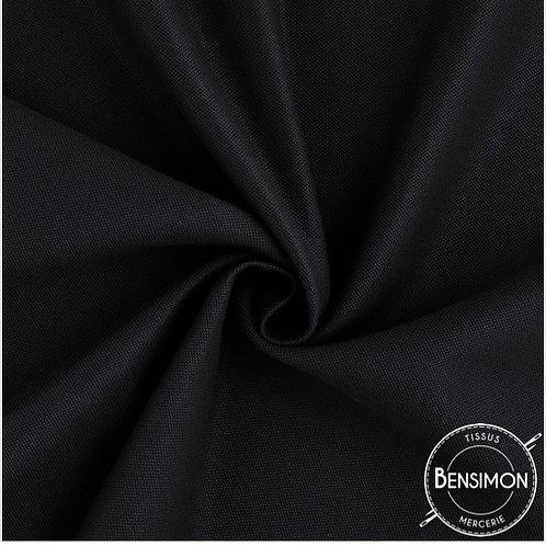 Tissu natté 100% coton Oekotex 2m80 - Noir X 50cm