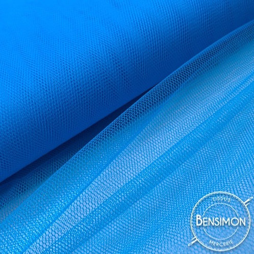 Tulle bleu fluo tutu raide grande largeur mariage