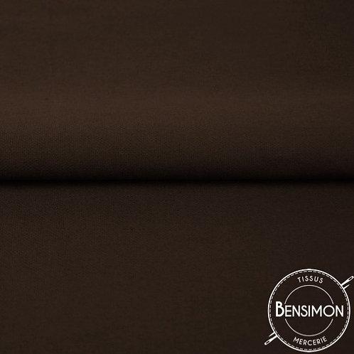 Tissu natté Gabardine Coton - Marron  X 50cm
