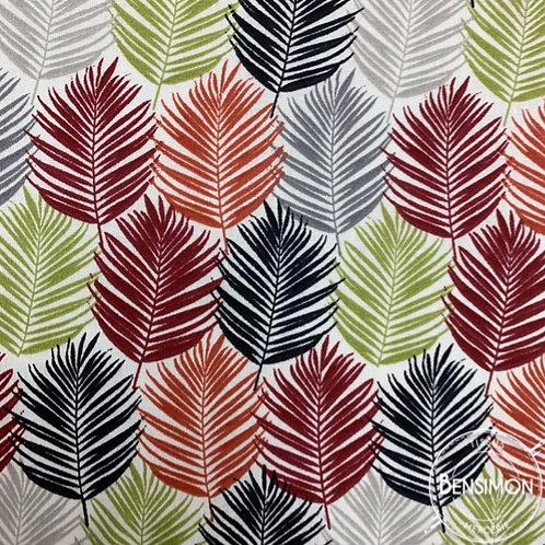 Tissu coton imprimé oekotex feuillage