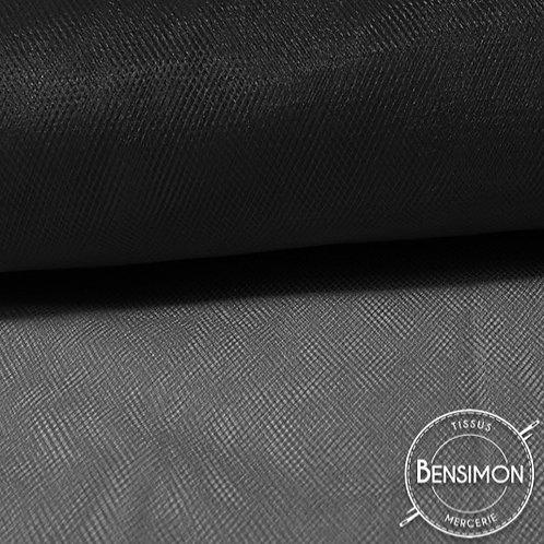 Tissu Tulle souple grande largeur - Noir Black X 1M