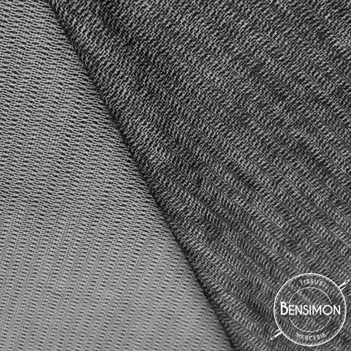 Entoilage thermocollant tissé laineux - Noir X 50cm