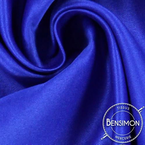 Tissu satin duchesse - Bleu Roy X 50cm