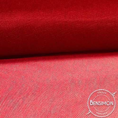 Tissu Tulle souple grande largeur - Rouge Ferrari X 1M