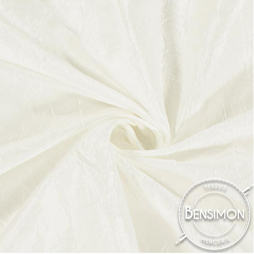 Tissu satin taffetas - Blanc X 50cm