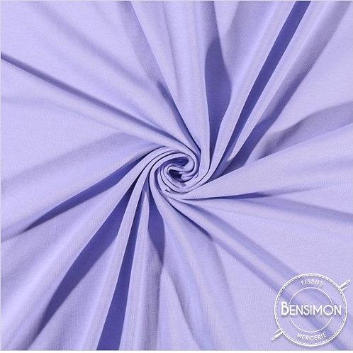 Tissu Jersey coton léger - Parme X 50cm