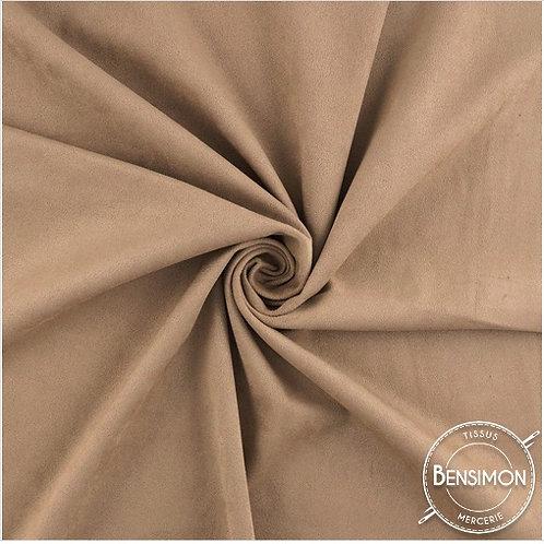 Tissu Suédine épaisse unie - Beige X 50cm