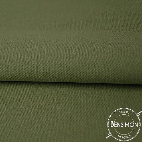 Tissu natté Gabardine Coton - Kaki  X 50cm