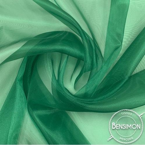 Tissu Organza - Vert bouteille X 50cm