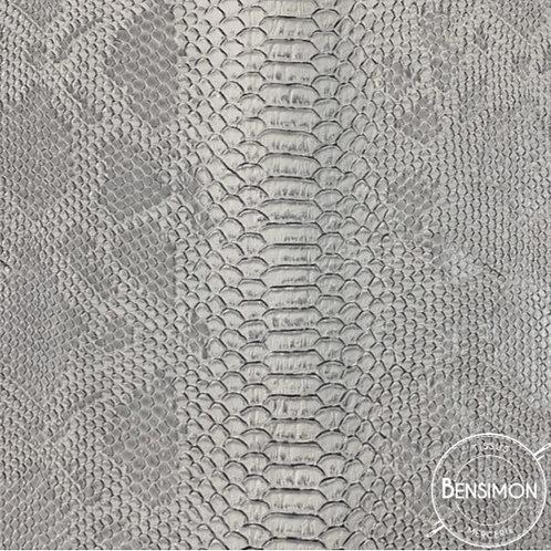 Tissu Simili Cuir Komodo - Gris X 50cm