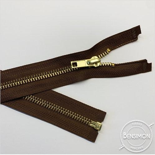 Fermeture métal 5mm séparable - Marron