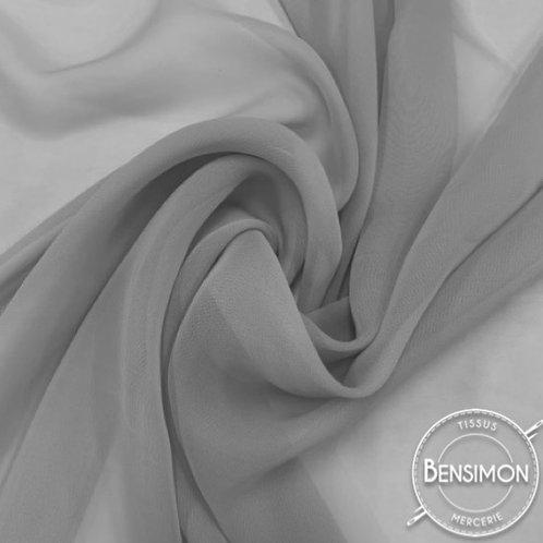 Tissu Mousseline - Gris perle X 50cm