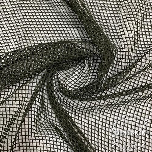Tissu Résille élasthanne - Vert Kaki X 1M