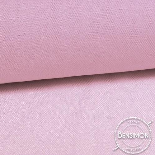 Tissu Tulle souple grande large - Rose pale X 1M