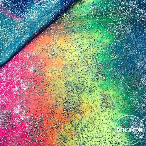 Tissu extensible Lycra stretch lamé brillant pailleté justaucorps académique danse multicouleurs