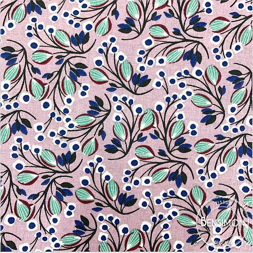 Tissu coton imprimés - Selyn violine X 50cm