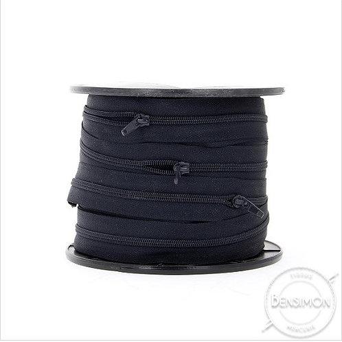Fermeture spirale au mètre 5mm non séparable - Noir