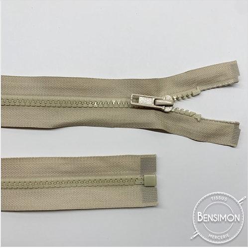 Fermeture injectée 5mm séparable - Beige
