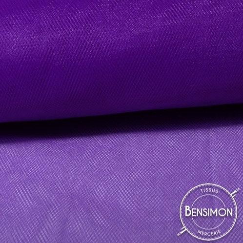 Tissu Tulle souple grande largeur - Violet X 1M