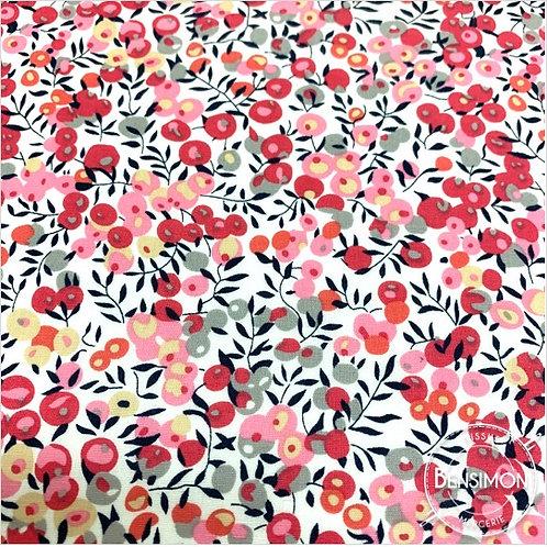 Tissu coton imprimés - Liberty Wiltshire Berry rose X 50cm