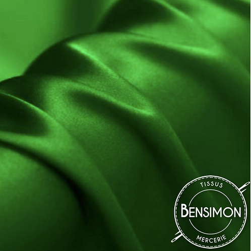 Tissu satin premium - Vert brésilien X 50cm