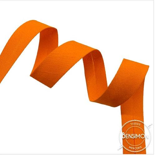 Biais coton replié 20mm - Orange vif n°1048