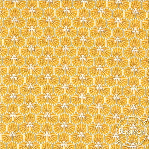 Tissu coton imprimés - Riad Safran X 50cm