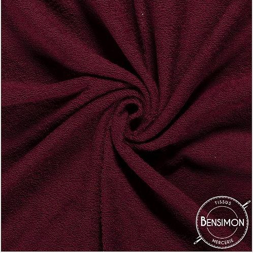 Tissu éponge coton OekoTex - Bordeaux X 50cm