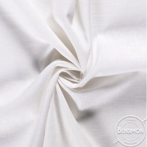 Tissu Lin - Blanc naturel X 50cm