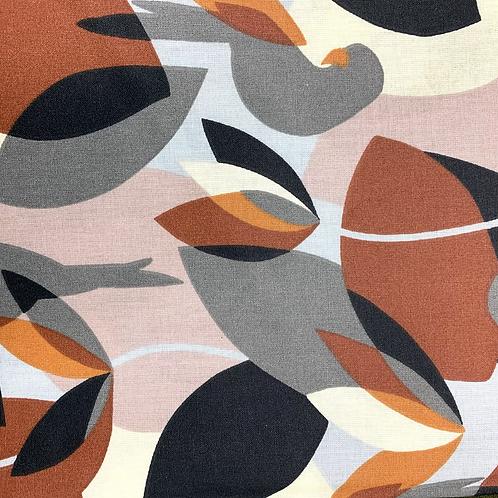 Tissu coton imprimés enduit - Motifs fauve X 50cm
