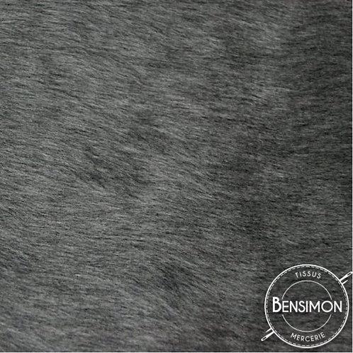 Tissu effet Fourrure poils courts - Gris X 50cm
