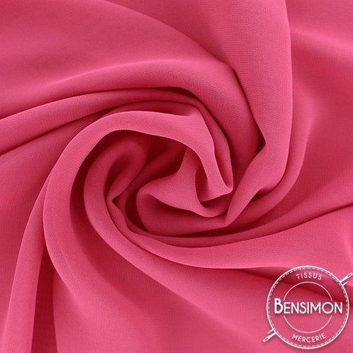 Tissu Mousseline - Fuchsia X 50cm