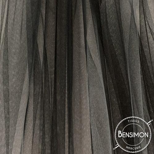 Tissu Tulle souple Morbido - Noir X 1M