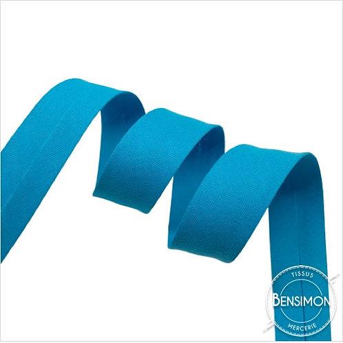 Biais coton replié 20mm - Turquoise n°1139