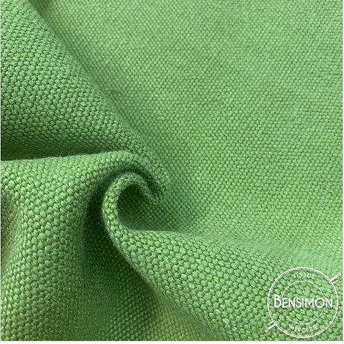 Tissu toile de Jute - Vert Anis X 50cm