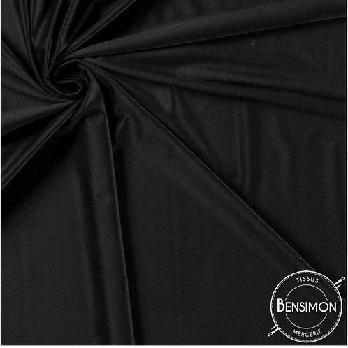 Tissu Velours ras - Noir X 50cm