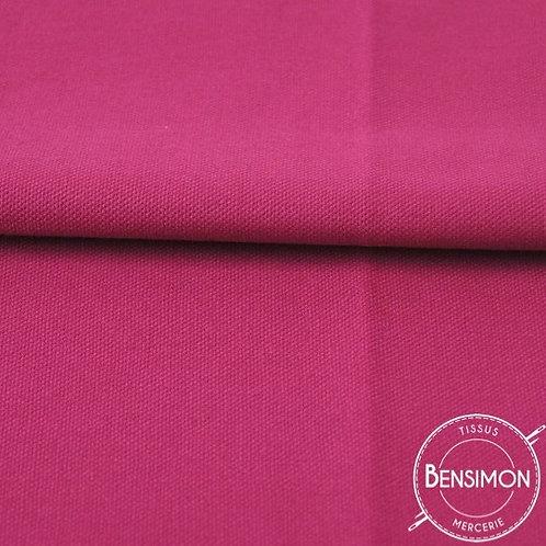 Tissu natté Gabardine Coton - Fuchsia X 50cm