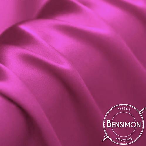 Tissu satin premium - Fuchsia X 50cm