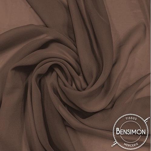 Tissu Mousseline - Marron X 50cm