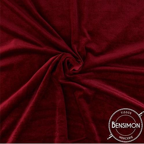 Tissu Velours - Rouge Grenat X 50cm