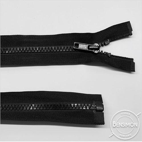 Fermeture injectée 5mm séparable - Noir