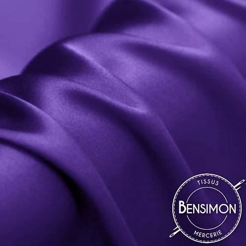 Tissu satin premium - Violet X 50cm