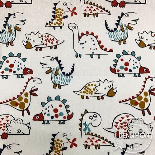 Tissu coton imprimés - Dinosaures X 50cm