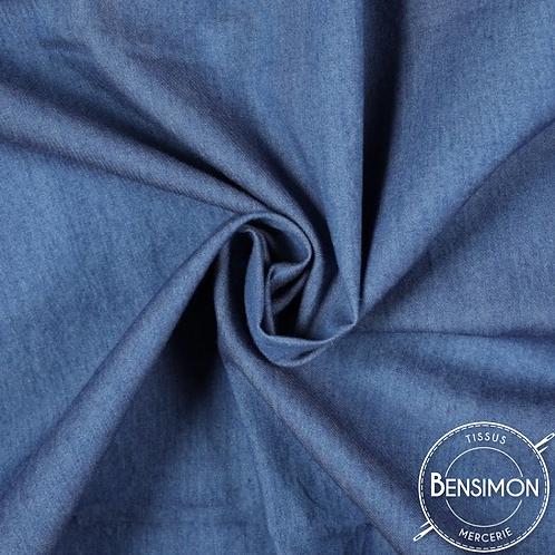Tissu Jeans léger - Bleu X 50cm